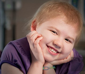 A young girl from St. Jude Children's Hospital